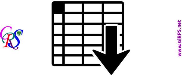 جدول اطلاعاتی در GIS