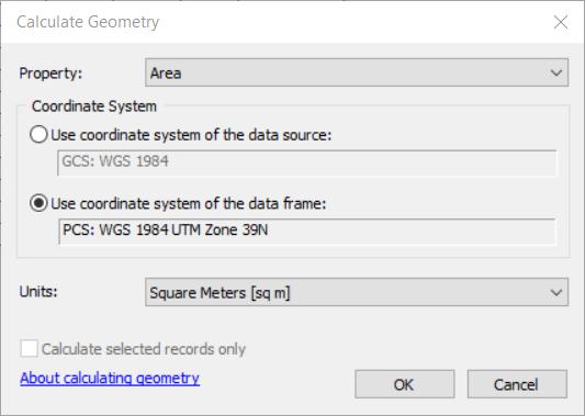مساحت حساب کردن در GIS