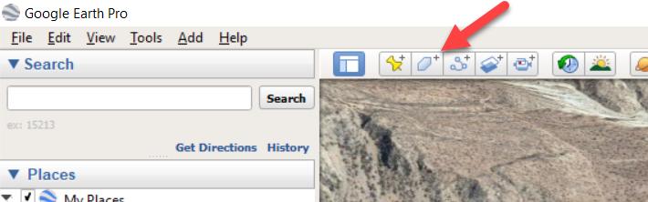 ترسیم پلیگون در گوگل ارث پرو