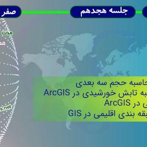محاسبه تابش خورشیدی و میانیابی در ArcGIS