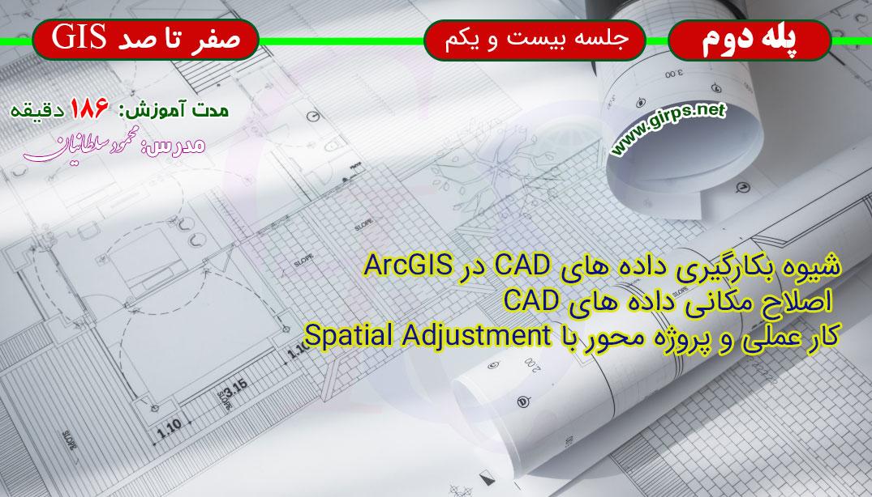 اصلاح مکانی داده های CAD و وکتوری در ArcGIS