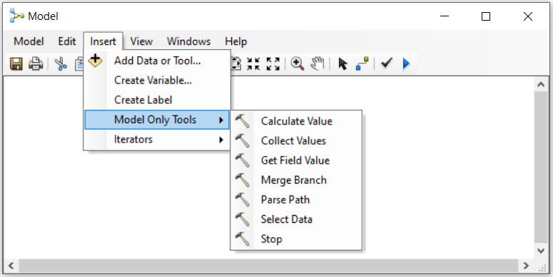 آموزش Model Only Tools در مدل بیلدر GIS