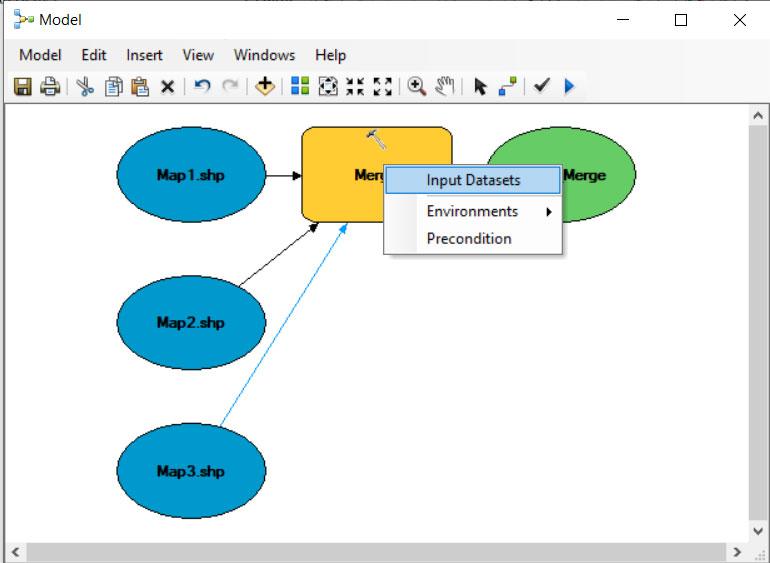 ابزار Merge در مدل بیلدر GIS