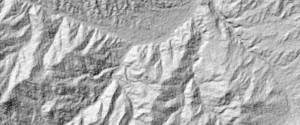 ساخت هیل شید در GIS