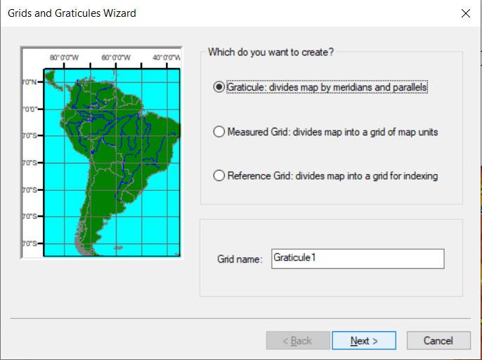 طراحی شبکه مختصات در GIS