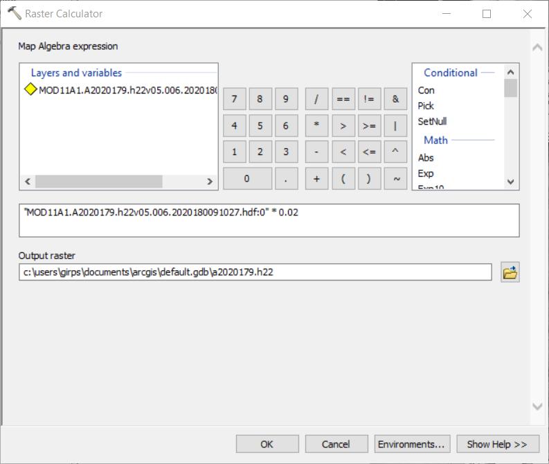 آموزش ابزار Raster Calculator